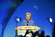 Cincinnati, OH - July 18, 2016: Democratic presidential candidate Hillary Clinton speaks before an audience at the NAACP convention in Cincinnati, Ohio, July 18, 2016.  (Photo by Don Baxter/Media Images International)