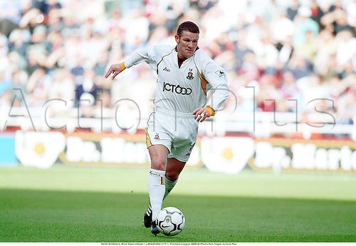 30.09.2000. London England. DEAN WINDASS during the West Ham United 1 v BRADFORD CITY 1, Premier League