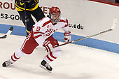 Clayton Keller (BU - 19) - The visiting Merrimack College Warriors defeated the Boston University Terriers 4-1 to complete a regular season sweep on Friday, January 27, 2017, at Agganis Arena in Boston, Massachusetts.The visiting Merrimack College Warriors defeated the Boston University Terriers 4-1 to complete a regular season sweep on Friday, January 27, 2017, at Agganis Arena in Boston, Massachusetts.