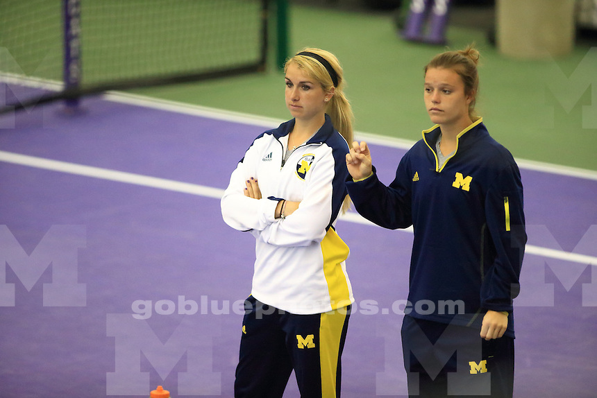 The University of Michigan women's tennis team won their second round of the 2014 Big Ten Women's Tennis Tournament in Evanston, IL at Northwestern University. April 26, 2014