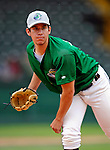 17 June 2008: Vermont Lake Monsters pitcher Tommy Milone warms up prior to Opening Day against the Oneonta Tigers at historic Centennial Field in Burlington, Vermont. The Lake Monsters defeated the Tigers 6-4 in the first game of their three-game season opening series in Vermont...Mandatory Credit: Ed Wolfstein Photo