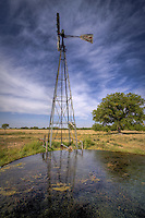 A windmill on the Cimarron National Grassland in Western Kansas.