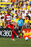 28 AUGUST 2010:  FC Dallas' Atiba Harris (16) during MLS soccer game between FC Dallas vs Columbus Crew at Crew Stadium in Columbus, Ohio on August 28, 2010.