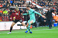 David Brooks of AFC Bournemouth vies with Rob Holding of Arsenal during AFC Bournemouth vs Arsenal, Premier League Football at the Vitality Stadium on 25th November 2018