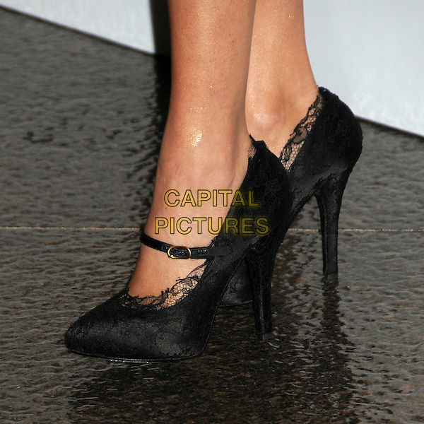 "MORAN ATIAS's shoes .""The Next Three Days"" Los Angeles Screening held at the Directors Guild of America, West Hollywood, California, USA, 16th November 2010..detail black lace mary janes heels .CAP/ADM/BP.©Byron Purvis/AdMedia/Capital Pictures."