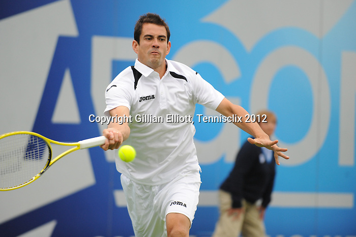 Guillermo Garcia-Lopez, ESP, loses at Queens in the Aegon Championships