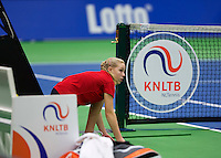 Rotterdam,Netherlands, December 15, 2015,  Topsport Centrum, Lotto NK Tennis, Ballgirl<br /> Photo: Tennisimages/Henk Koster