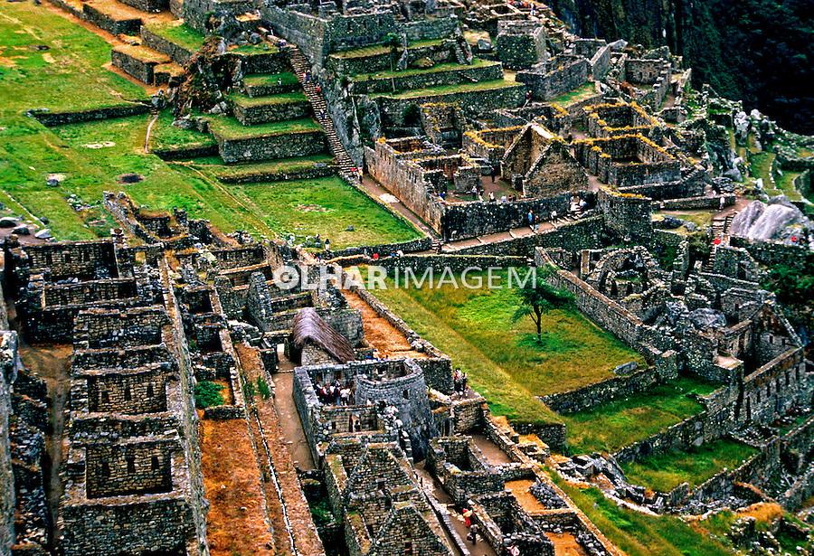 Vista geral da cidade Inca de Machu Pichu. Perú. Foto de Juca Martins. Data: 1994