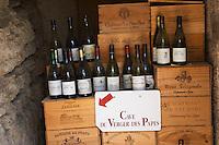 wine shop cave du verger des papes chateauneuf du pape rhone france