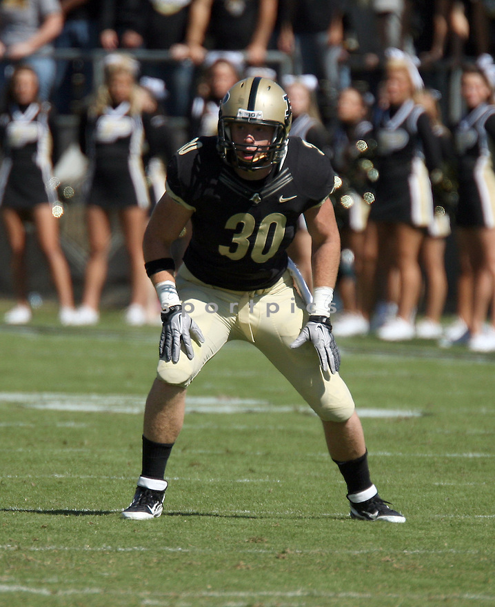 JOE HOLLAND, of the Purdue Boilermakers, in action during Purdue's game against Southeast Missouri State on September 17, 2011 at Ross Ade Stadium in West Lafayette IN. Purdue beat Southeast Missouri 59-0.