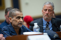 ***FILE PHOTO*** NYPD Detective Who Testified For More 9/11 Compensation Dies After Battling Cancer .<br /> <br /> NYPD Detective Luis Alvarez testifies at a hearing on the 9-11 Victims fund before the Judiciary subcommittee on Capitol Hill in Washington D.C. on June 11, 2019. <br /> CAP/MPI/RS<br /> ©RS/MPI/Capital Pictures