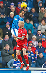 4.3.2018: Rangers v Falkirk Scottish Cup QF<br /> Bruno Alves heads clear from Craig Sibbald
