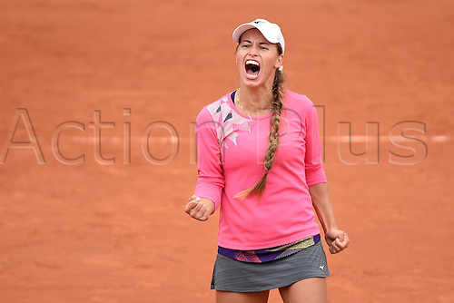 01.06.2016. Roland Garros, Paris, France, French Open tennis championships, day 11.  Yulia Putintseva (KAZ)