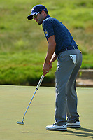 Potomac, MD - June 29, 2017: Adam Hadwin putts on the 14th hole during Round 1 of professional play at the Quicken Loans National Tournament at TPC Potomac at Avenel Farm in Potomac, MD, June 29, 2017.  (Photo by Don Baxter/Media Images International)
