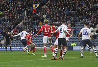 Preston North End's Daniel Johnson scores his sides first goal  <br /> <br /> Photographer Mick Walker/CameraSport<br /> <br /> The EFL Sky Bet Championship - Preston North End v Bristol City - Saturday 2nd March 2019 - Deepdale Stadium - Preston<br /> <br /> World Copyright © 2019 CameraSport. All rights reserved. 43 Linden Ave. Countesthorpe. Leicester. England. LE8 5PG - Tel: +44 (0) 116 277 4147 - admin@camerasport.com - www.camerasport.com