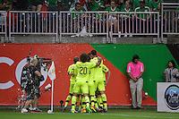 Houston, TX - Monday June 13, 2016: Jose Manuel Velazquez  celebrates scoring during a  Copa America Centenario Group D match between Colombia (COL) vs Costa Rica (CRC) at NRG Stadium.