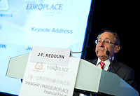 Banque de France Deputy Governor Jean-Paul Redouin speaks at Shanghai / Paris Europlace Financial Forum, in Shanghai, China, on December 1, 2010. Photo by Lucas Schifres/Pictobank