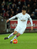 Ki Sung Yueng of Swansea during the Barclays Premier League match between Swansea City and Bournemouth at the Liberty Stadium, Swansea on November 21 2015