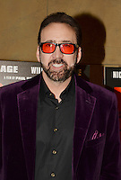 LOS ANGELES, CA - SEPTEMBER 30: Nicolas Cage at the retrospective of Paul Schrader's body of work and The Beyond Fest Screening and Retrospective of Dog Eat Dog hosted by American Cinematheque at the Egyptian Theatre in Los Angeles, California on September 30, 2016. Credit: Koi Sojer/Snap'N U Photos/MediaPunch