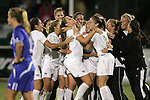 7 November 2007: Wake Forest players celebrate the overtime win. Wake Forest University defeated Duke University 1-0 in overtime at the Disney Wide World of Sports complex in Orlando, FL in an Atlantic Coast Conference tournament quarterfinal match.