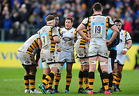 Jimmy Gopperth of Wasps speaks to his team-mates. Aviva Premiership match, between Bath Rugby and Wasps on March 4, 2017 at the Recreation Ground in Bath, England. Photo by: Patrick Khachfe / Onside Images