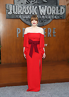 LOS ANGELES, CA - JUNE 12: Bryce Dallas Howard, at Jurassic World: Fallen Kingdom Premiere at Walt Disney Concert Hall, Los Angeles Music Center in Los Angeles, California on June 12, 2018. <br /> CAP/MPIFS<br /> &copy;MPIFS/Capital Pictures