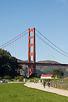 San Francisco, California, Enjoying Crissy Field east of the Golden Gate Bridge along the Golden Gate Promenade.  Photo copyright Lee Foster. Photo # 1-casanf76357.