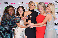 Chizzy Akudolu, Shirley Ballas, Tess Daly, Ruth Langsford &amp; Mollie King at the National Television Awards 2018 at the O2 Arena, Greenwich, London, UK. <br /> 23 January  2018<br /> Picture: Steve Vas/Featureflash/SilverHub 0208 004 5359 sales@silverhubmedia.com