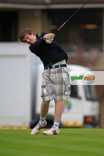 Gavin Flanagan (Mullingar) on the 1st tee during the Irish Boys Under 15 Amateur Open Championship Round 2 at the West Waterford Golf Club on Wednesday 21st August 2013 <br /> Picture:  Thos Caffrey/ www.golffile.ie
