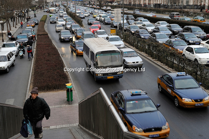 Traffic Jam in Beijing, China..20 Dec 2008
