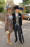 Bruce and Wilnelia Forsyth dies at 89 retro set - <br /> Royal Ascot 2003, Berkshire, England