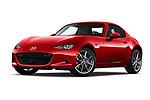 Stock pictures of low aggressive front three quarter view of 2019 Mazda MX-5-Miata-RF Grand-Touring 2 Door Targa Low Aggressive