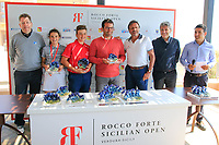 Third place at the prize giving during the ProAm ahead of the Rocco Forte Sicilian Open played at Verdura Resort, Agrigento, Sicily, Italy 09/05/2018.<br /> Picture: Golffile | Phil Inglis<br /> <br /> <br /> All photo usage must carry mandatory copyright credit (&copy; Golffile | Phil Inglis)