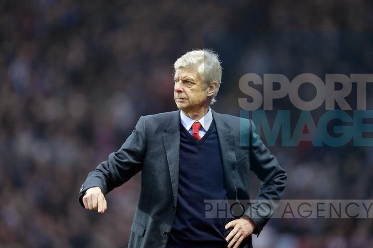 Arsenal manager Arsene Wenger - Football - Barclays Premier League - Aston Villa vs Arsenal - Villa Park Birmingham - 13th December 2015 - Season 2015/2016 - Photo Malcolm Couzens/Sportimage