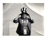 Hillary delegate from North Carolina. Polaroid Portraiture and Reportage from the 2008 Political Conventions