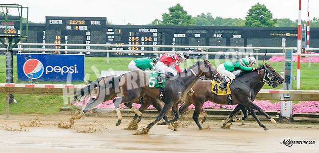 Manando winning at Delaware Park on 8/11/15