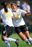 28 August 2009: University of Vermont Catamounts' midfielder/forward Gabby Bonfigli (10), a Junior from Essex Junction, VT, in action against the University of Montreal Carabins at Centennial Field in Burlington, Vermont. The Catamounts defeated the Carabins 3-2 in sudden death overtime. Mandatory Photo Credit: Ed Wolfstein Photo