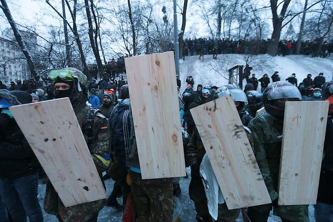 Zusammenstöße in Kiew 22.01.2014 / Clashes in Kiew Jan. 22nd, 2014