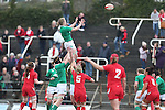 Ireland flanker Claire Molloy wins the line out ball.<br /> 6 Nations Championship<br /> Wales v Ireland Women<br /> St Helens Swansea<br /> 15.03.15<br /> &copy;Steve Pope - SPORTINGWALES