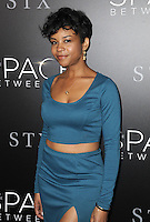www.acepixs.com<br /> <br /> January 17 2017, LA<br /> <br /> Aasha Davis arriving at the premiere 'The Space Between Us' at the ArcLight Hollywood on January 17, 2017 in Hollywood, California. <br /> <br /> By Line: Peter West/ACE Pictures<br /> <br /> <br /> ACE Pictures Inc<br /> Tel: 6467670430<br /> Email: info@acepixs.com<br /> www.acepixs.com