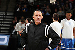 WINSTON-SALEM, NC - JANUARY 23: Referee Roger Ayers. The Wake Forest University Demon Deacons hosted the Duke University Blue Devils on January 23, 2018 at Lawrence Joel Veterans Memorial Coliseum in Winston-Salem, NC in a Division I men's college basketball game. Duke won the game 84-70.