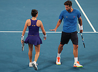 Match 2  Australia v Spain - Mixed Doubles -Australia's   Daria  Gavrilova and Nick Kyrgios lose to Spain's Lara Arruabarrena and Feliciano Lopez   in Straight Sets  at the Hopman Cup Perth  West Australia  on January 1st  2017