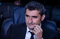 27th November 2019; Camp Nou, Barcelona, Catalonia, Spain; UEFA Champions League Football, Barcelona versus Borussia Dortmund; Ernesto Valverde FCBarcelona coach during a UEFA Champions League match - Editorial Use