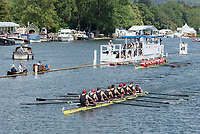 """Henley on Thames, United Kingdom, 8th July 2018, Sunday, """"The Thames Challenge Cup"""", won by, Thames Rowing Club,  """"Fifth day"""", of the annual,  """"Henley Royal Regatta"""", Henley Reach, River Thames, Thames Valley, England, © Peter SPURRIER,"""