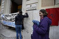 Roma, 15 Dicembre 2014<br /> Agenzia del Demanio di Roma Capitale<br /> Protesta per chiedere  l'acquisizione del lago della ex Snia a patrimonio pubblico, demanializzazione dell'area della ex Snia e la confisca dei beni a Pulcini e esproprio dei terreni. Pulcini è il costruttore accusato di tangenti verso il direttore dell'agenzia del Demanio.