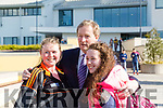 Taoiseach Enda Kenny TD attend the launch of the €16.5m sports academy at ITT North Campus on Monday.  Taoiseach Enda Kenny meeting students Katie Ahern Lynch and Gladys Sherlock