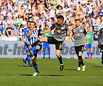 12.05.2018, OLympiastadion, Berlin, GER, 1.FBL, Hertha BSC VS. RB Leipzig, im Bild <br /> Vladimir Darida (Hertha BSC Berlin #6), Diego Demme (RB Leipzig #31)<br /> <br /> <br />       <br /> Foto &copy; nordphoto / Engler