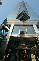 The Center business building in Central, Hong Kong. It is owned by Cheung Kong Property, a part of Cheung Kong Group of Li Ka Shing's..