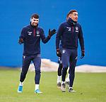 19.12.2019 Rangers training: Jordan Jones and James Tavernier