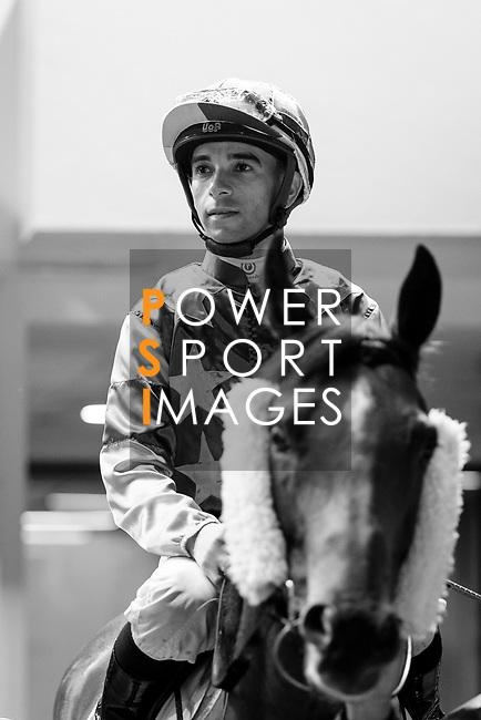 #8 Jockey Joao Moreira riding Heroic Guru during the Hong Kong Racing at Happy Valley Race Course on June 13, 2018 in Hong Kong, Hong Kong. Photo by Marcio Rodrigo Machado / Power Sport Images